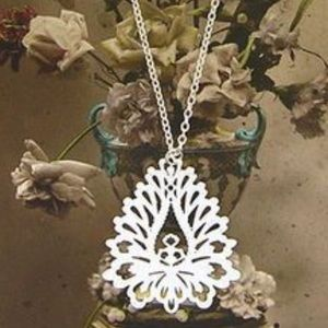 Lavishy Boho Gold Cut Out Filigree Lotus Necklace